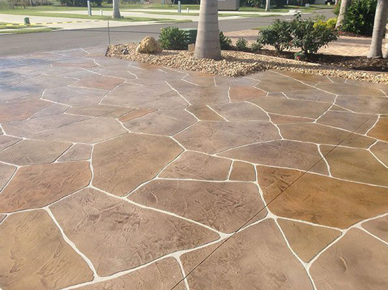 Stamped Concrete Prolawn Landscaping