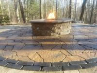 flagstone circle ring and fire pit