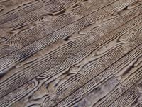 Wood Grained Stamped Concrete