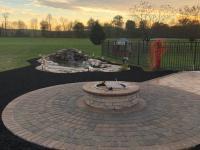 paver circle ring, fire pit