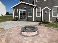 paver circle ring, patio, fire pit