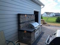 wall block grill island