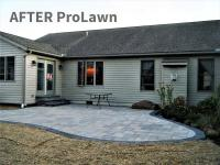 Light gray block patio with dark grey edging, Chambersburg, PA