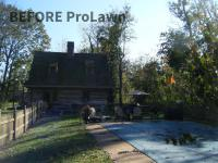 Swimming pool with grass around it before ProLawn Landscaping